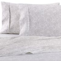 Home Collection Course Paisley Queen Sheet Set in Light Grey