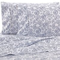 Home Collection Course Paisley King Sheet Set in Navy