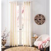 Safavieh Lerapetra 84-Inch Grommet Window Curtain Panel in Ivory