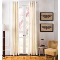 Safavieh Grevena 84-Inch Semi-Sheer Window Curtain Panel in Ivory