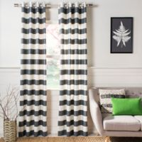 Buy Grey And White Striped Curtains Bed Bath And Beyond Canada