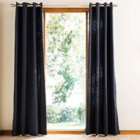 Safavieh Kavala 84-Inch Rod Pocket Room Darkening Window Curtain Panel in Navy