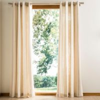 Safavieh Vari Grommet Window Curtain Panel in Natural/White