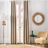 Safavieh Patras 96-Inch Grommet Room Darkening Window Curtain Panel in Beige