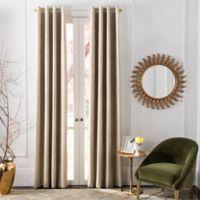 Safavieh Veria 84-Inch Grommet Room Darkening Window Curtain Panel in Beige