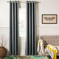 Safavieh Melissia 84-Inch Grommet Room Darkening Window Curtain Panel in Grey