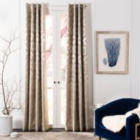 Safavieh Perama 84-Inch Room Darkening Window Curtain Panel in Beige