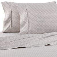 Home Collection Honeycomb Full Sheet Set in Light Grey