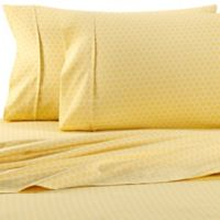 Home Collection Honeycomb Queen Sheet Set in Yellow