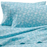 Home Collection Wheat Full Sheet Set in Pale Blue