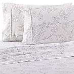 Home Collection Vine Queen Sheet Set in Grey