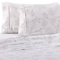 Home Collection Vine Twin Sheet Set in Grey