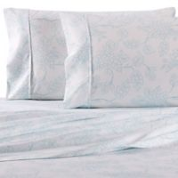 Home Collection Vine Queen Sheet Set in Aqua