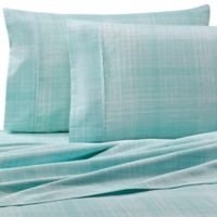 Home Collection Thatch Twin Sheet Set in Aqua