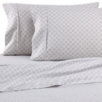 Quatrefoil King Sheet Set in Grey