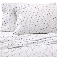 Home Collection Floral King Sheet Set in Light Blue