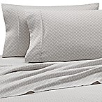 Scallops Microfiber Deep-Pocket King Sheet Set in Light Grey