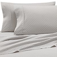 Scallops Microfiber Deep-Pocket Full Sheet Set in Light Grey