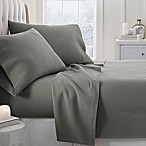 Home Collection Ultra Soft Flannel King Sheet Set in Grey