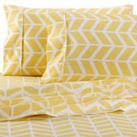 Home Collection Arrow Queen Sheet Set in Yellow