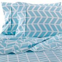 Home Collection Arrow Twin Sheet Set in Turquoise