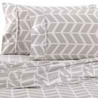 Home Collection Arrow King Sheet Set in Grey