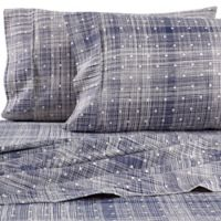 Home Collection Polka Dot King Sheet Set in Navy