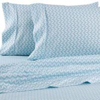iEnjoy Home Puffed Chevron California King Sheet Set in Light Blue