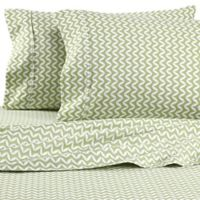 iEnjoy Home Chevron Queen Sheet Set in Sage
