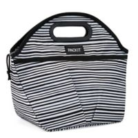 PACKiT® Freezable Wobbly Stripes Traveler Lunch in Black/White