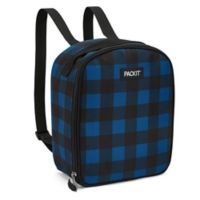 PACKiT® Freezable Upright Backpack in Navy Buffalo