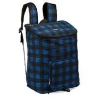 PACKiT® Freezable Can Cooler Backpack in Navy Buffalo
