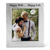 """Arthur Court """"Happy Wife... Happy Life"""" 8-Inch x 10-Inch Picture Frame"""