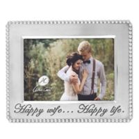 "Arthur Court ""Happy Wife... Happy Life"" 5-Inch x 7-Inch Beaded Picture Frame"