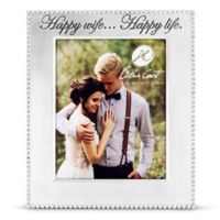 """Arthur Court """"Happy Wife... Happy Life"""" 8-Inch x 10-Inch Beaded Picture Frame"""