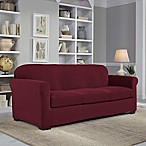 Perfect Fit® NeverWet Luxury 2-Piece Sofa Slipcover in Garnet