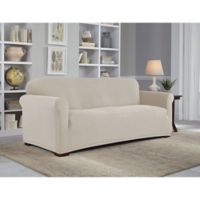 Perfect Fit® NeverWet Luxury Sofa Slipcover in Putty