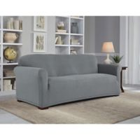 Perfect Fit Neverwet Luxury Sofa Slipcover In Grey