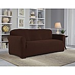 Perfect Fit® NeverWet Luxury Sofa Slipcover in Chocolate
