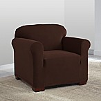 Perfect Fit® NeverWet Luxury Chair Slipcover in Chocolate