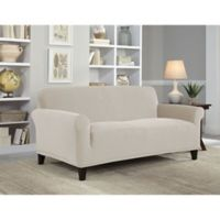 Perfect Fit® NeverWet Luxury Loveseat Slipcover in Putty