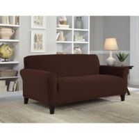 Perfect Fit® NeverWet Luxury Loveseat Slipcover in Chocolate