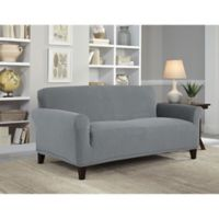 Perfect Fit® NeverWet Luxury Loveseat Slipcover in Grey