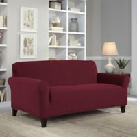 Perfect Fit® NeverWet Luxury Loveseat Slipcover in Garnet