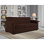 Perfect Fit® NeverWet Luxury 3-Piece Sofa Slipcover in Chocolate
