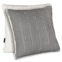 Brielle Cable Knit 18-Inch Square Pillow Cover in Grey