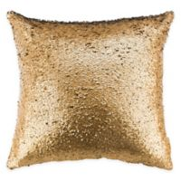 Safavieh Talon Two-Tone Sequin Square Throw Pillow in Gold