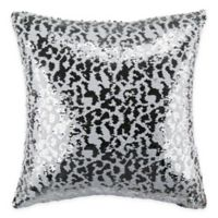 Safavieh Sorel Sequin Square Throw Pillow in White/Silver