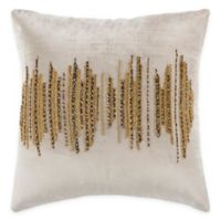 Safavieh Deston Darling 20-Inch Square Pillow in Beige/Gold