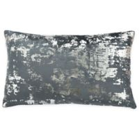 Safavieh Edmee 12-Inch x 20-Inch Rectangle Pillow in Medium Blue/Silver